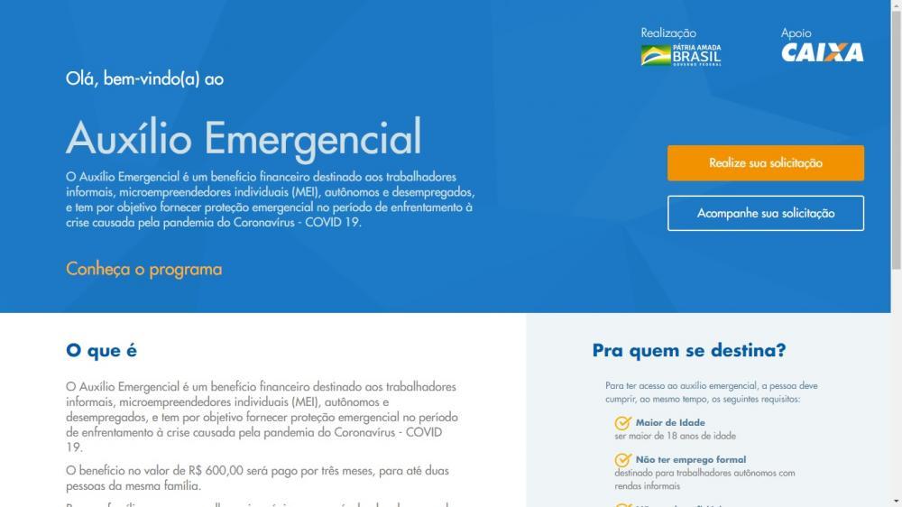 Começa hoje (07) o cadastramento para receber o auxílio emergencial; veja o link oficial