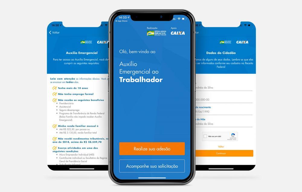 Usuários reclamam de instabilidade em aplicativo da Caixa para auxílio emergencial