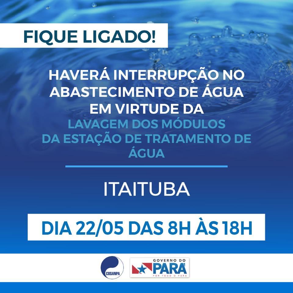 Bairros de Itaituba ficam sem abastecimento de água nesta sexta-feira