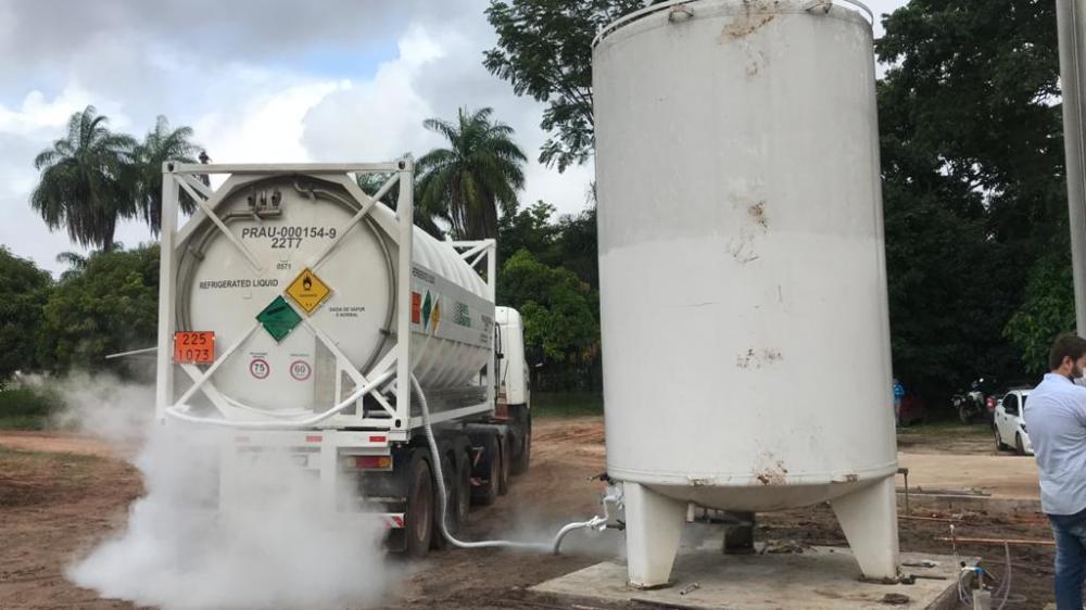 Hospital de Campanha de Santarém recebe rede de oxigênio