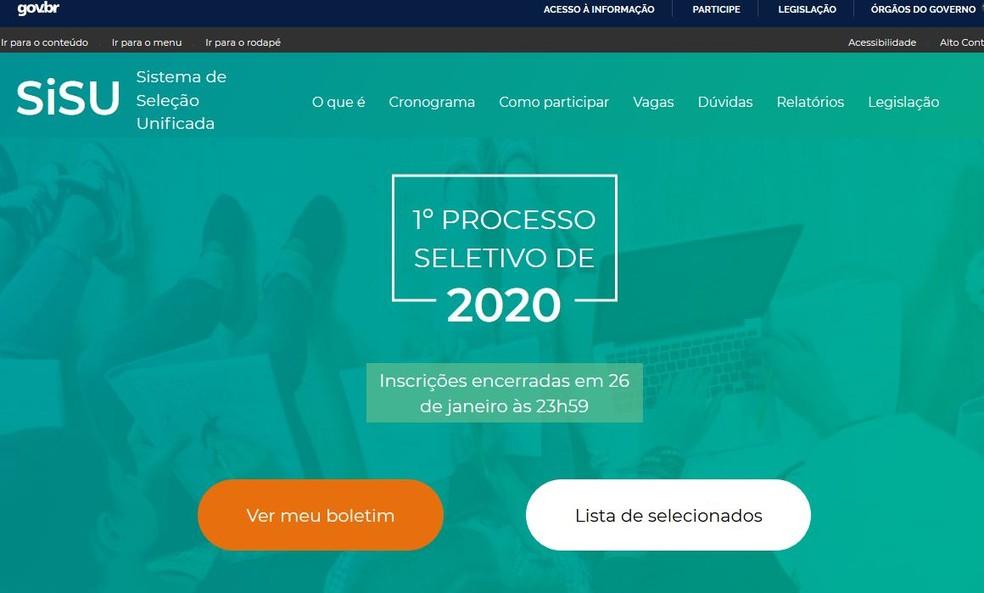 Inscrições para o SiSU 2020/2 foram adiadas para julho