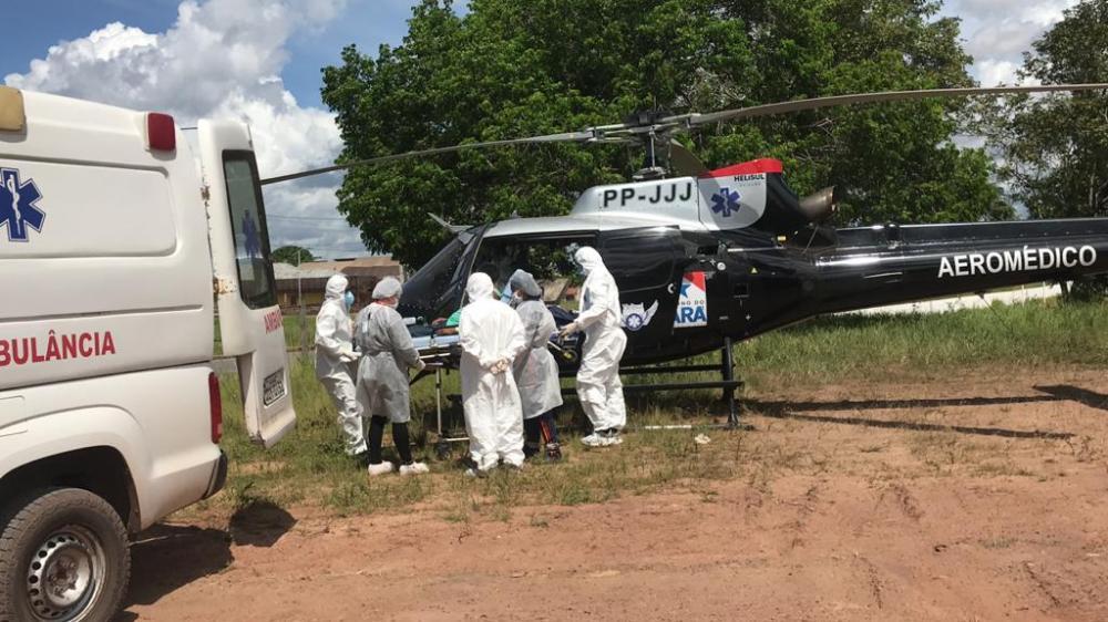 Hospital de Campanha de Santarém recebe primeiro paciente indígena