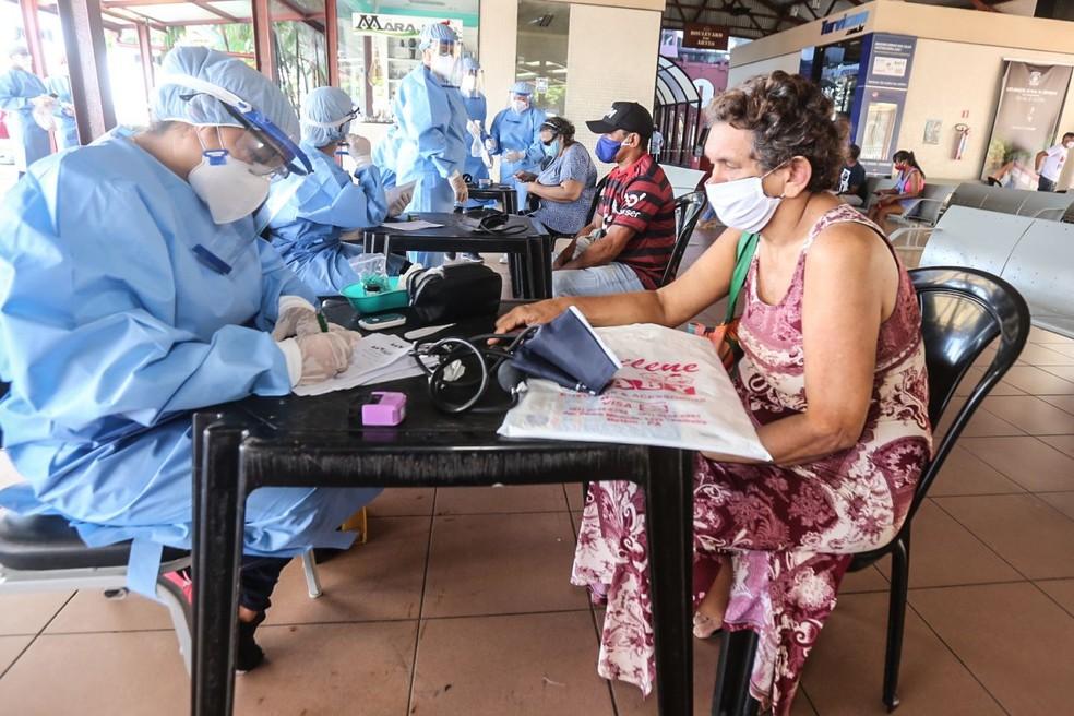 Policlínica Itinerante atende pacientes com sintomas de Covid-19. | Foto: Agência Pará