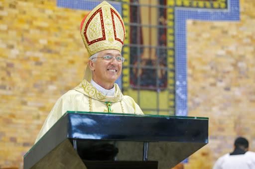 Além de Dom Irineu, mais três arcebispos tiveram o pálio abençoado pelo Papa Francisco. | Foto: Reprodução / CNBB
