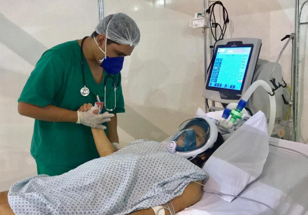 Fisioterapia respiratória auxilia na recuperação de pacientes do Hospital de Campanha de Santarém