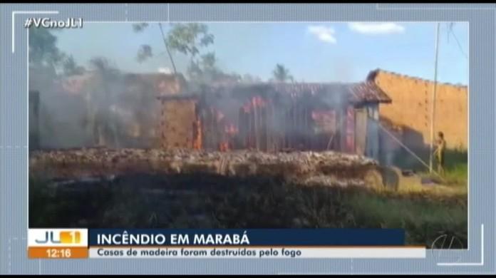 Incêndio destrói casa em Marabá, no sudeste do Pará
