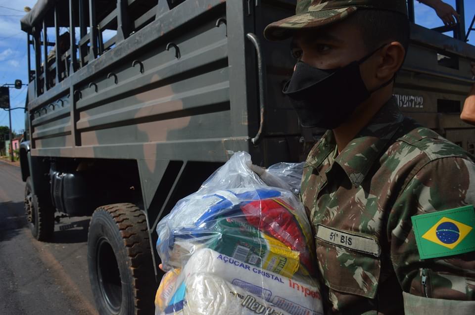 51° Batalhão de Infantaria de Selva em Altamira, realiza entrega de cestas básicas