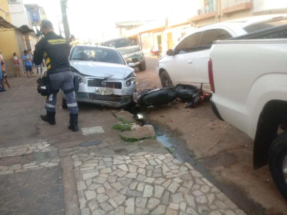 Acidente de trânsito em Altamira, deixa danos materiais que somam quase R$50 mil