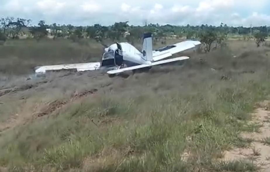 Avião de pequeno porte derrapa e faz pouso forçado em Curralinho, no PA