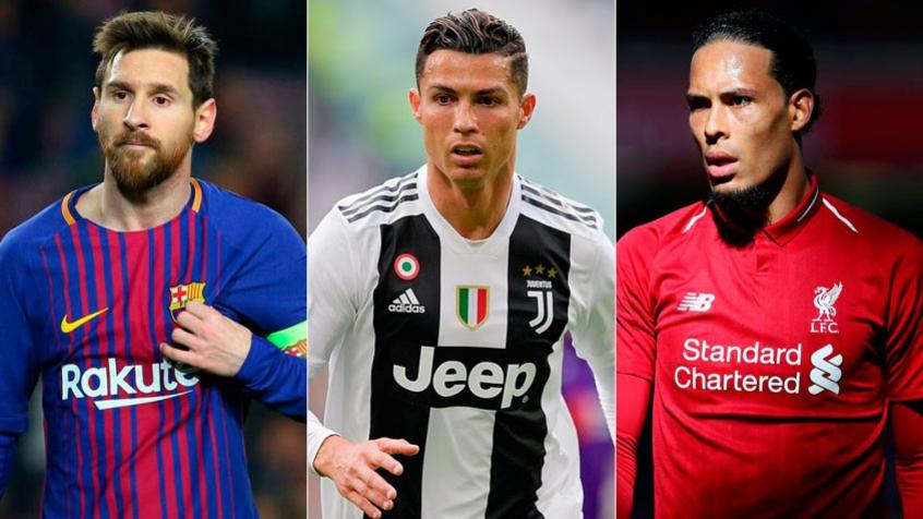Messi, CR7 e Van Dijk vão disputar o 'título' (Foto: Reprodução)