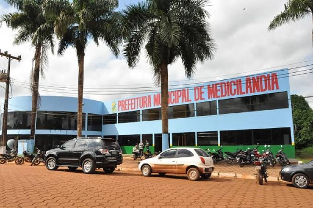 Sede da Prefeitura Municipal de Medicilândia, no Pará — Foto: A Voz do Xingu/Reprodução