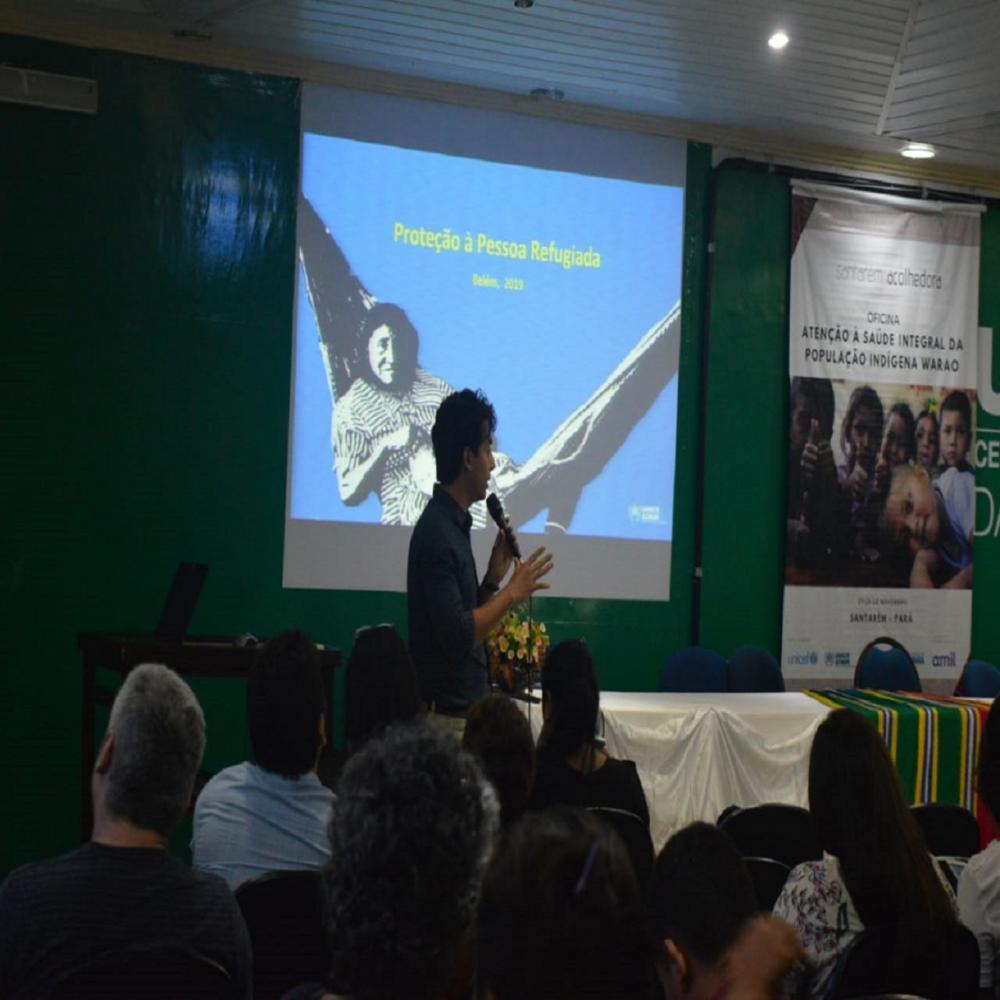 """O evento faz parte da programação """"Santarém Acolhedora"""" para refugiados venezuelanos"""