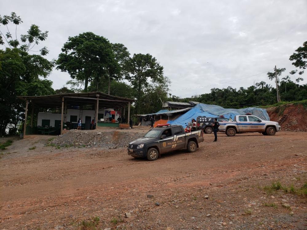 Operação Monte Castelo II, em Rurópolis, no Pará. — Foto: Reprodução / Polícia Civil