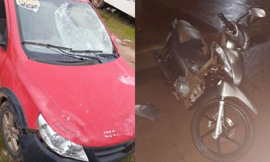 Veículos envolvidos no acidente. (Foto: Reprodução(
