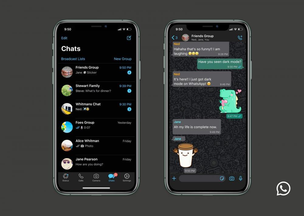 WhatsApp libera o modo escuro para Android e iOS; saiba como ativar