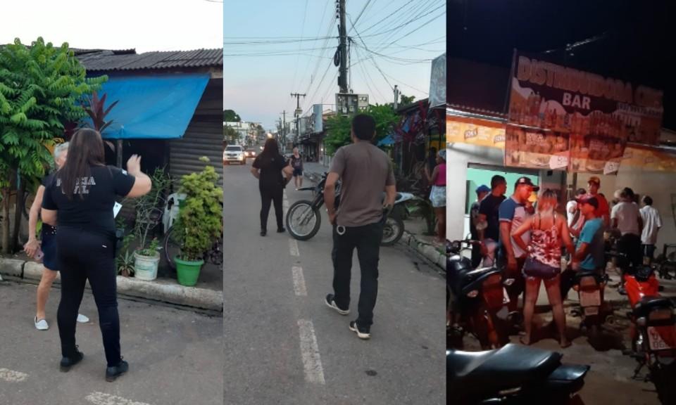 A Polícia levou levaram orientações aos comerciantes. (Foto: Reprodução/Redes Sociais)