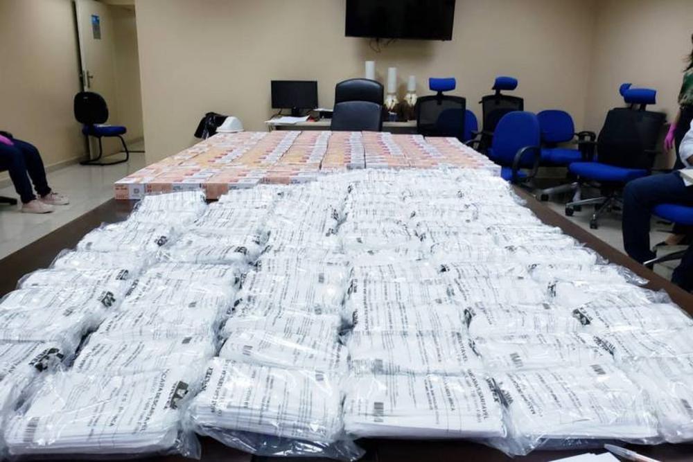 Cerca de 10 mil kits com máscaras e luvas foram distribuídos para servidores da Polícia Civil. — Foto: Polícia Civil do Pará