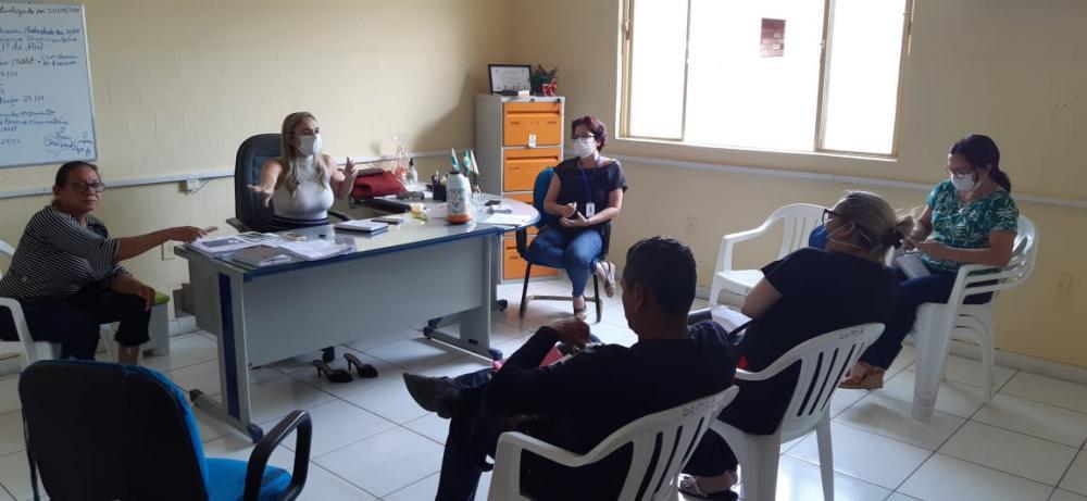 Reunião intermediada pela Delegacia Sindical do Sindmepa em Santarém. (Foto: Reprodução)