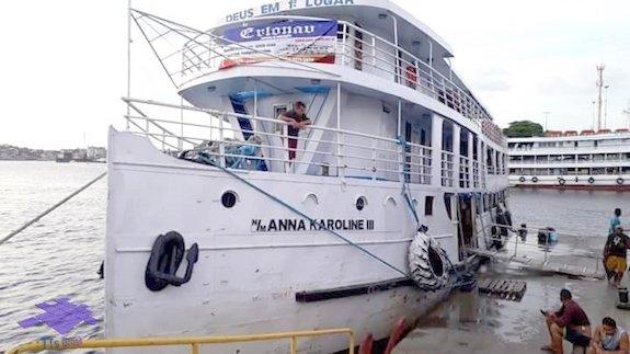 Navio Anna Karoline III. (Foto: Reprodução/Redes sociais)