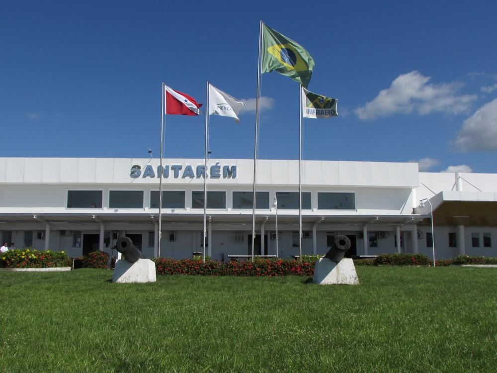 Durante o período de isolamento social, voos são reduzidos no Aeroporto de Santarém — Foto: Infraero/Divulgação