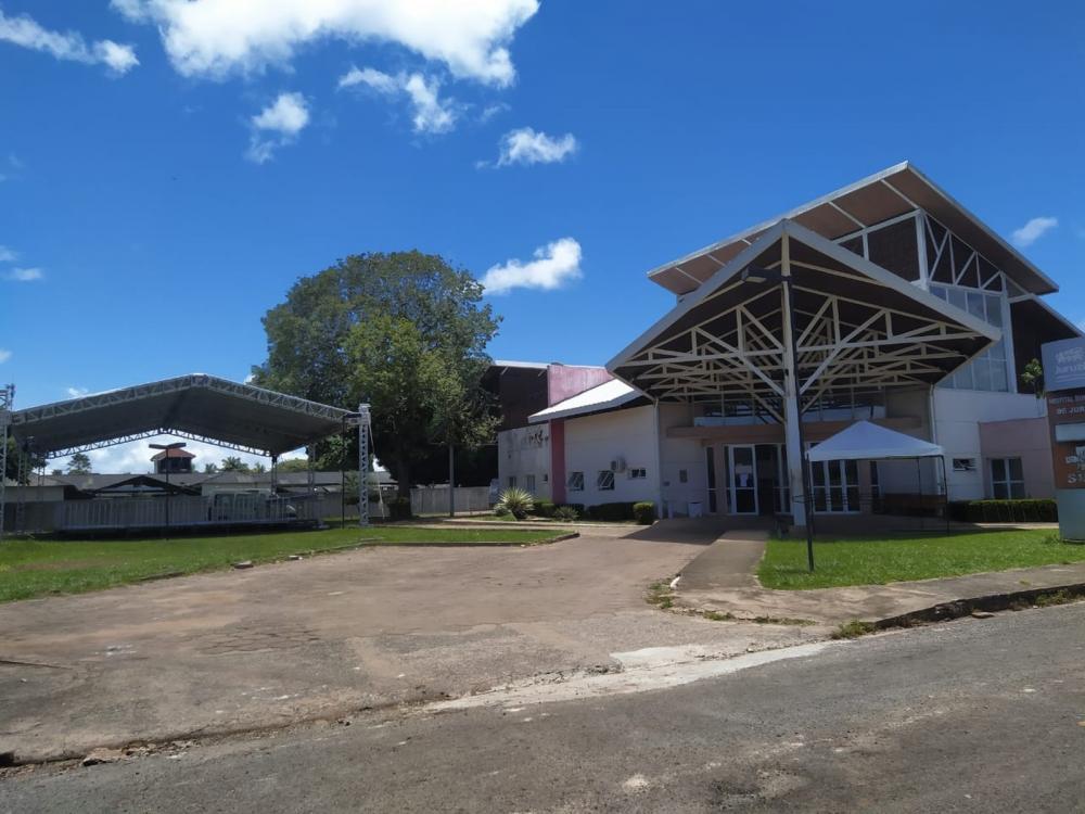Paciente com suspeita de coronavírus estava internado no Hospital Municipal de Juruti. (Foto: Ascom PMJ/Divulgação)